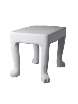 FOOTED TABLE White
