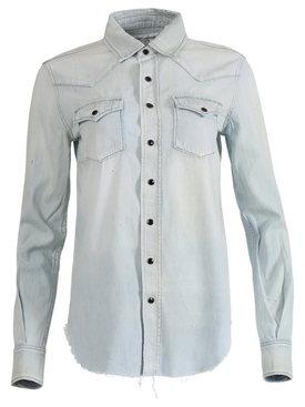 Blue Western Shirt