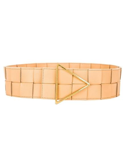 Bottega Veneta Intreccatio Belt Almond-gold