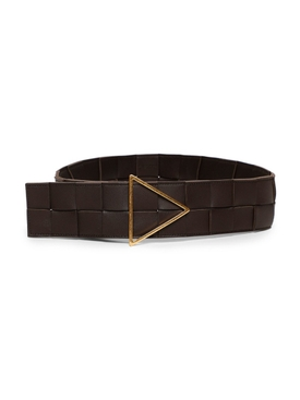 Intrecciato leather belt fondant