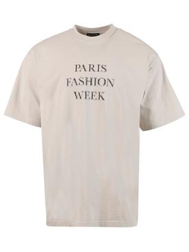 Paris Fashion Week Graphic T-shirt, Cement Grey