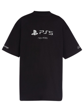 X PlayStation PS5 Oversized T-shirt Black and White