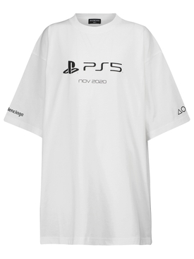 X PlayStation PS5 Oversized T-shirt White