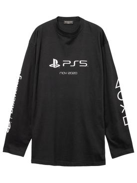 X PlayStation PS5 Long-Sleeve T-shirt Black