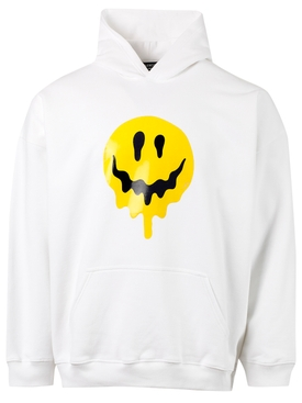 Melting Smiley Face Hoodie WHITE
