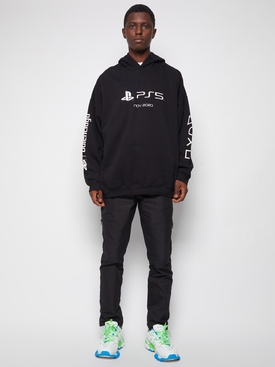 X PlayStation PS5 Hoodie Black Black and White