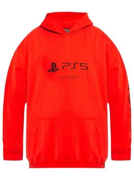 X PlayStation PS5 Hoodie Black Vermillion