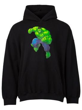 X Hulk Boxy Fit Hoodie Black