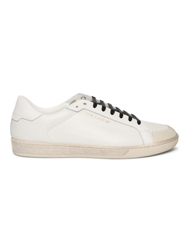 Court Classic SL/39 Perforated Low Top Sneakers, Optic White