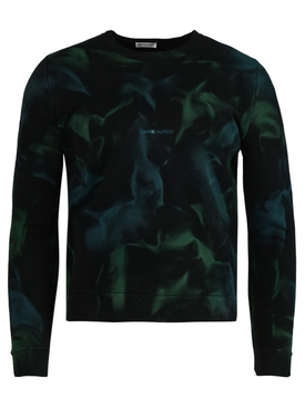 Black and green Tie-dye effect sweater