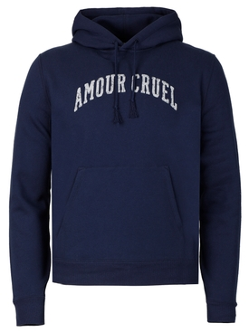 AMOUR CRUEL HOODIE, WASHED NAVY