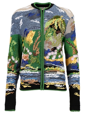 Multicolored embroidered jacket