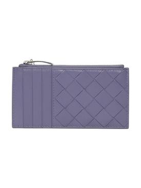 Intrecciato Wallet Lavender-Silver
