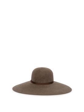 CLASSIC WIDE-BRIM HAT LIGHT BROWN