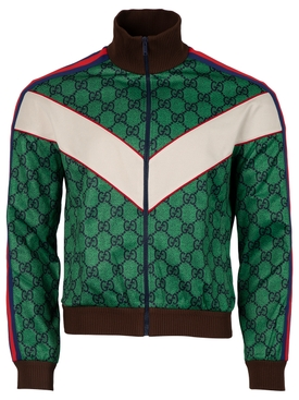 GG Jersey Zip Jacket with Web