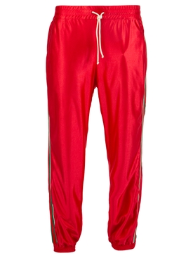 Iconic Web Jogger Pants LIVE RED