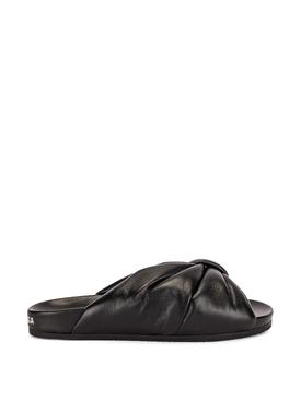Puffy Leather Slide Sandal