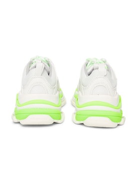 Triple S Kids Sneakers, FLUORESCENT GREEN AND WHITE