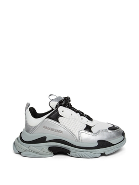 Kid's Triple S Sneaker Grey and Silver