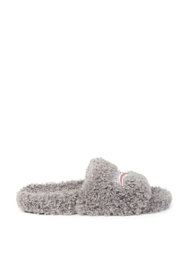 FURRY SLIDE GREY AND WHITE
