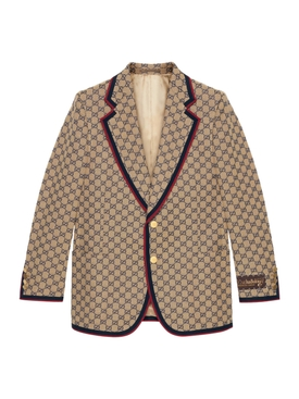 GG canvas single breasted jacket