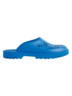 GG Cut-out Logo Sandals Bright Splash Blue
