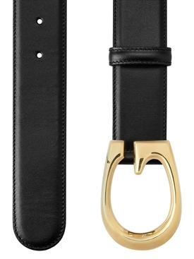 G Buckle Belt Black