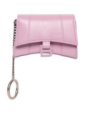 Hourglass Cardholder Keychain Pink
