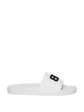 BB Pool Slide Sandals White