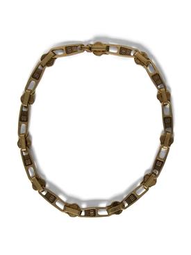 Zip Necklace Antique Gold