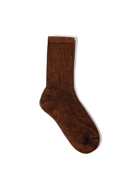 Bleached Tie-dye ankle socks