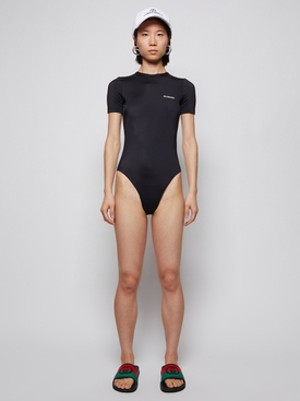 open back one-piece swimsuit black