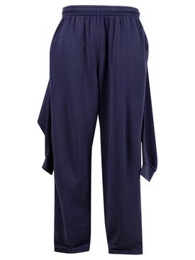 Hybrid Knotted Sweatpants, MARINE BLUE