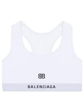 BB Logo Sports Bra White