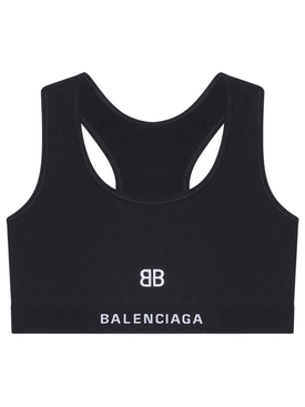 BB Logo Sports Bra Black