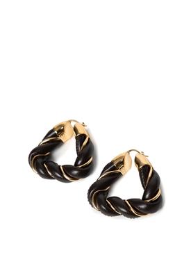 Twist hoop earrings, FONDANT