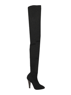 OVER-THE-KNEE BOOTS, NERO BLACK