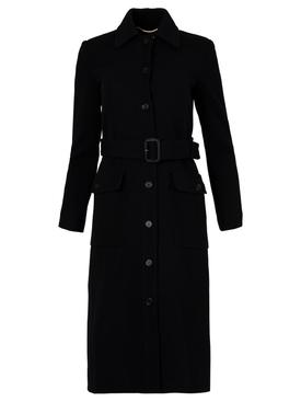 Classic Long Wool Coat Black