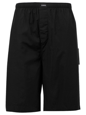 PAJAMA LOGO SHORTS, BLACK