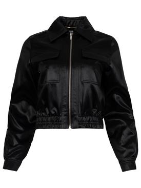 Patch pocket bomber jacket black