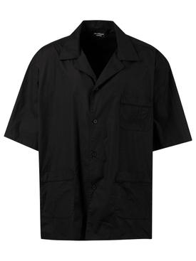 Short-sleeve Pajama Shirt, black