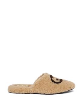 GG Logo Merino Wool Slippers