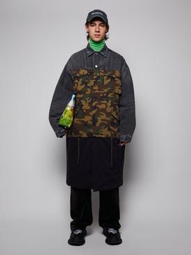 Three-piece carcoat KHAKI