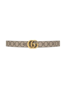 Reversible GG Supreme Print Belt Neutral and Black