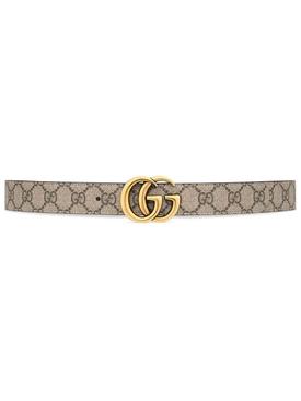 Reversible GG Supreme Print Belt Neutral and White