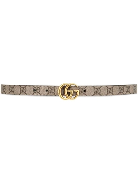 GG Marmont Reversible Thin Belt Neutral and Black