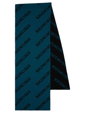 ALL OVER LOGO SCARF BLUE