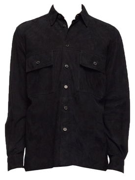 Johnny Suede Over Shirt BLACK