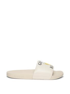 X Bananya Slide Sandals Mystic White