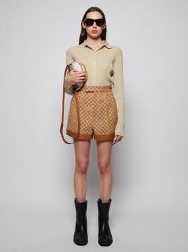 GG Linen Canvas Shorts Beige